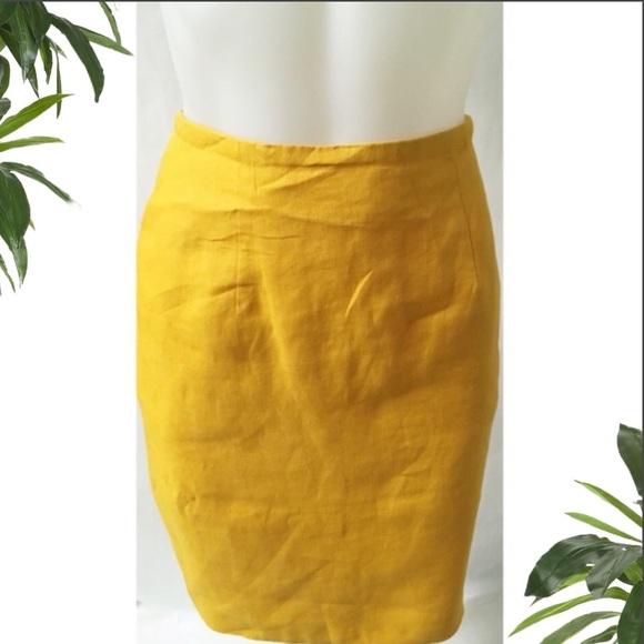 Vintage Dresses & Skirts - Yellow Pencil Skirt Size 8P